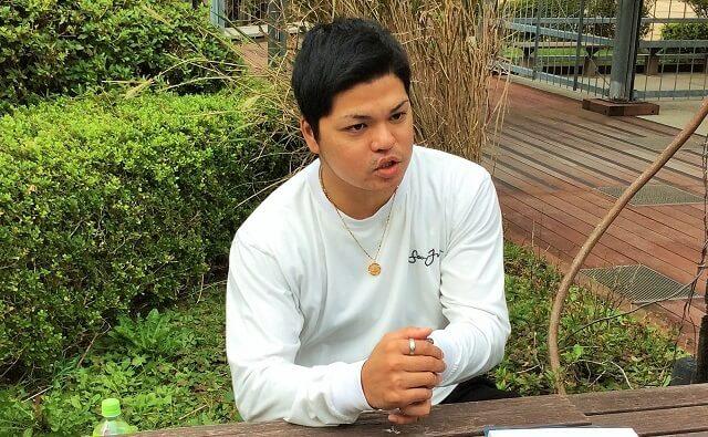 沖縄県出身の比嘉太成さん。「仕事を通して沖縄に貢献したい」と語ってくれました