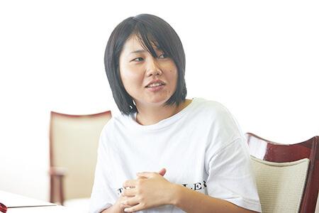 田畑胡桃さん(長野県出身 長野県内の大学に在学中。地元での就職を希望)